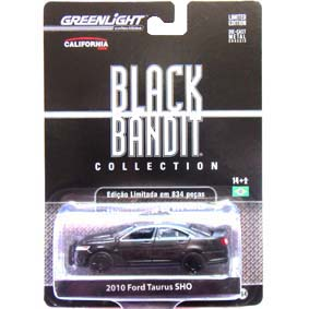 Greenlight Collectibles Black Bandit Ford Taurus Police (2010) 1/64 R6 27670