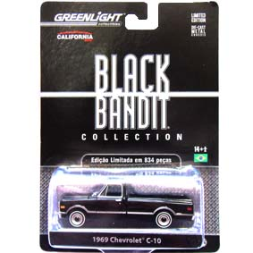 Greenlight Collectibles Black Bandit Pickup Chevrolet C-10 (1969) 1/64 R6 27670