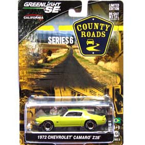 Greenlight Collectibles County Roads 1/64 Chevy Camaro Z/28 (1972) R6 29710