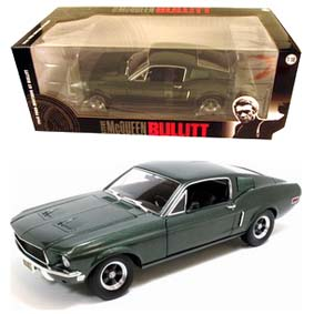 Greenlight Collectibles Ford Mustang GT Bullit (1968) Steve McQueen escala 1/18