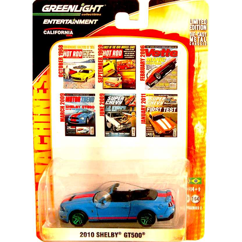 Greenlight Collectibles Green Machine Zine Machines R2 - 2010 Shelby GT500 21740X