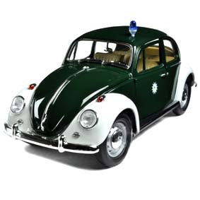 Greenlight Collectibles Miniatura de Fusca Beetle Stuttgart Police (1967) 1/18