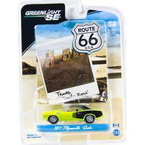 Greenlight Collectibles Route 66 escala 1/64 Plymouth Cuda (1971) R1 29700