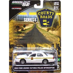 Greenlight County Roads 1/64 Ford Crown Vic Police  (2008) 1/64 R6 29710