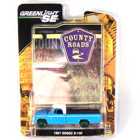 Greenlight County Roads 1/64 :: Green Machine Pickup Dodge D-100 (1967) R3 29650