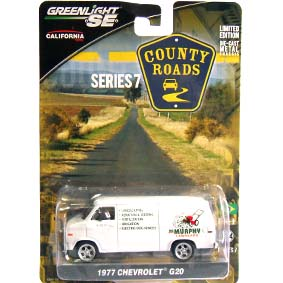 Greenlight County Roads series 7 Chevrolet G20 (1977) 29730 Miniatura escala 1/64