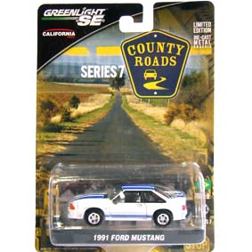 Greenlight County Roads series 7 Ford Mustang (1991) 29730 Miniatura escala 1/64
