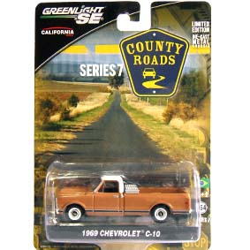 Greenlight County Roads series 7 Pickup Chevrolet C-10 (1969) 29730 Miniatura escala 1/64