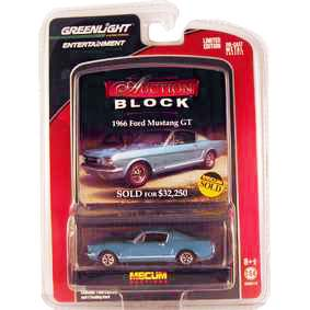 Greenlight Diecast Cars Ford Mustang GT (1966) Auction Blocks 1/64 R13 21710