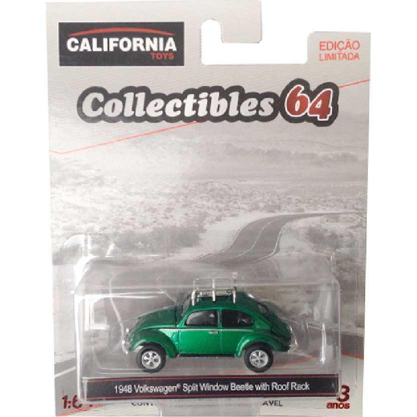Greenlight Green Machine 1948 VW Fusca Volkswagen Split Window Beetle + Rack escala 1/64