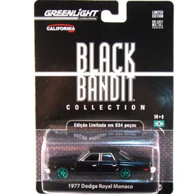 Greenlight Green Machine :: Black Bandit Dodge Royal Monaco (1977) 1/64 R6 27670