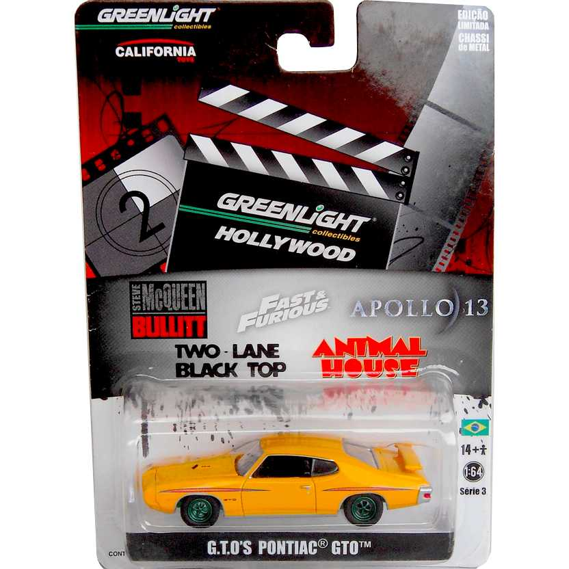 Greenlight Green Machine Chase Cars Hollywood Pontiac GTO (1971) R3 44630-X escala 1/64