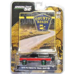 Greenlight Green Machine County Roads 1978 Plymouth Trail Duster R5 29690 1/64