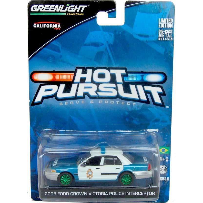 Greenlight Green Machine Hot Pursuit R9 (2008) Ford Crown Victoria Police Interceptor
