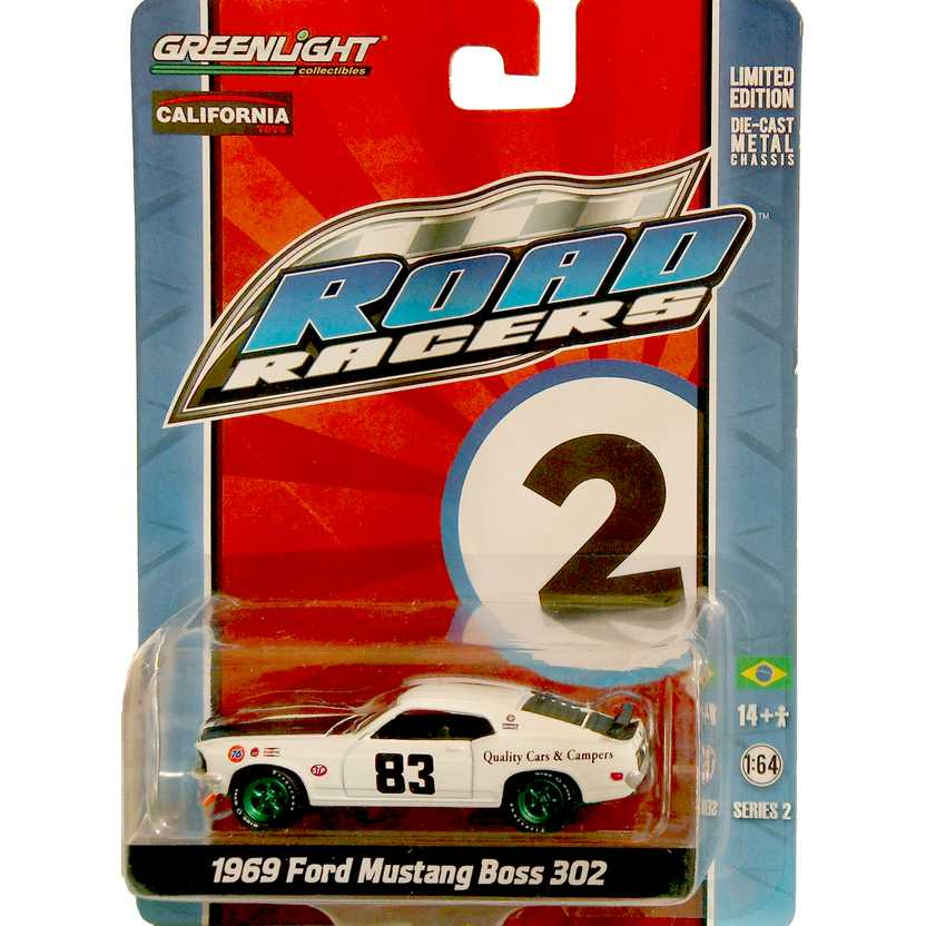 Greenlight Green Machine Road Racers 2 - 1969 Ford Mustang Boss 302 27680X