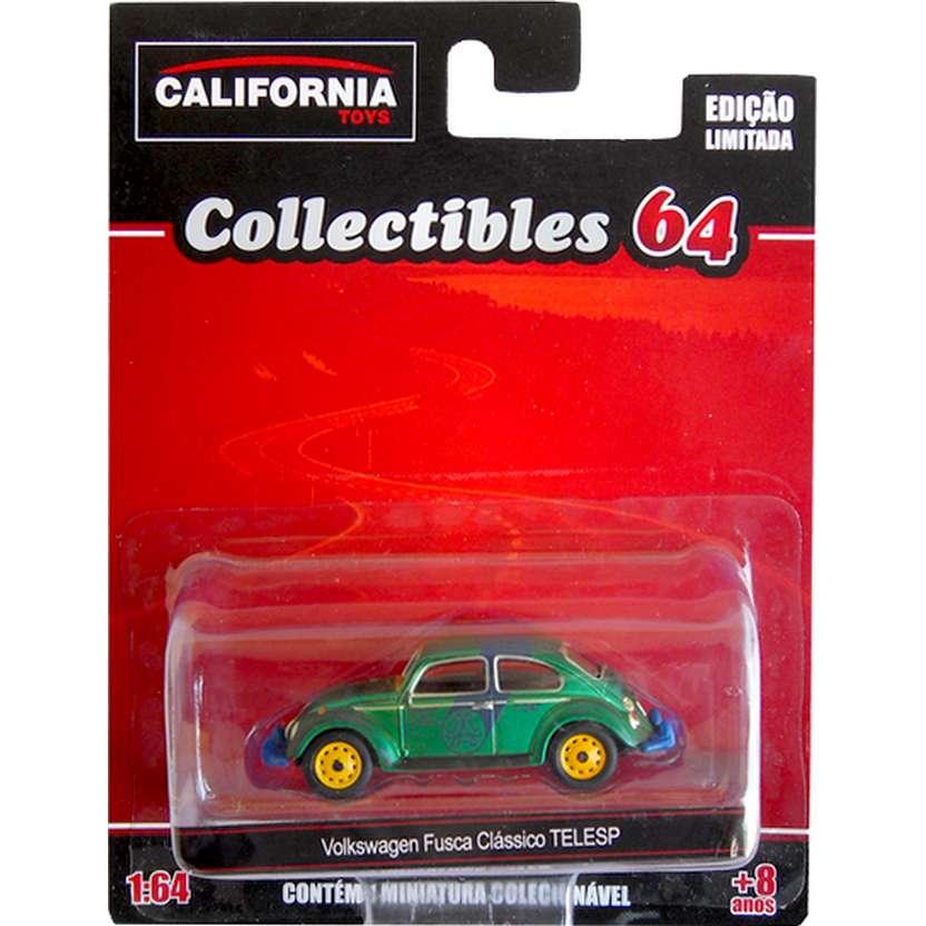 Greenlight Green Machine VW Fusca clássico da TELESP California Toys series 2 escala 1/64