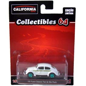 Greenlight Green Machine VW Fusca Taxi California Toys Collectibles escala 1/64