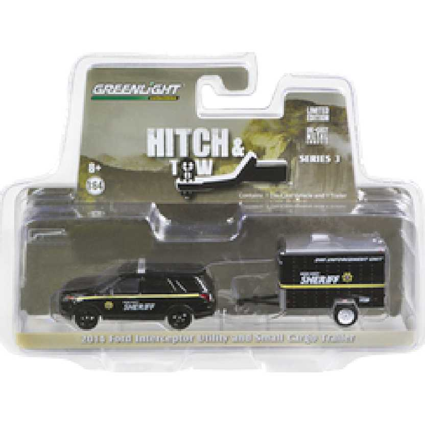 Greenlight Hitch and Tow series 3 2014 Ford Explorer Police + DWI Trailer escala 1/64 32030