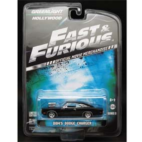 Greenlight Hollywood 3 R3 44630 Doms Dodge Charger Fast And Furious