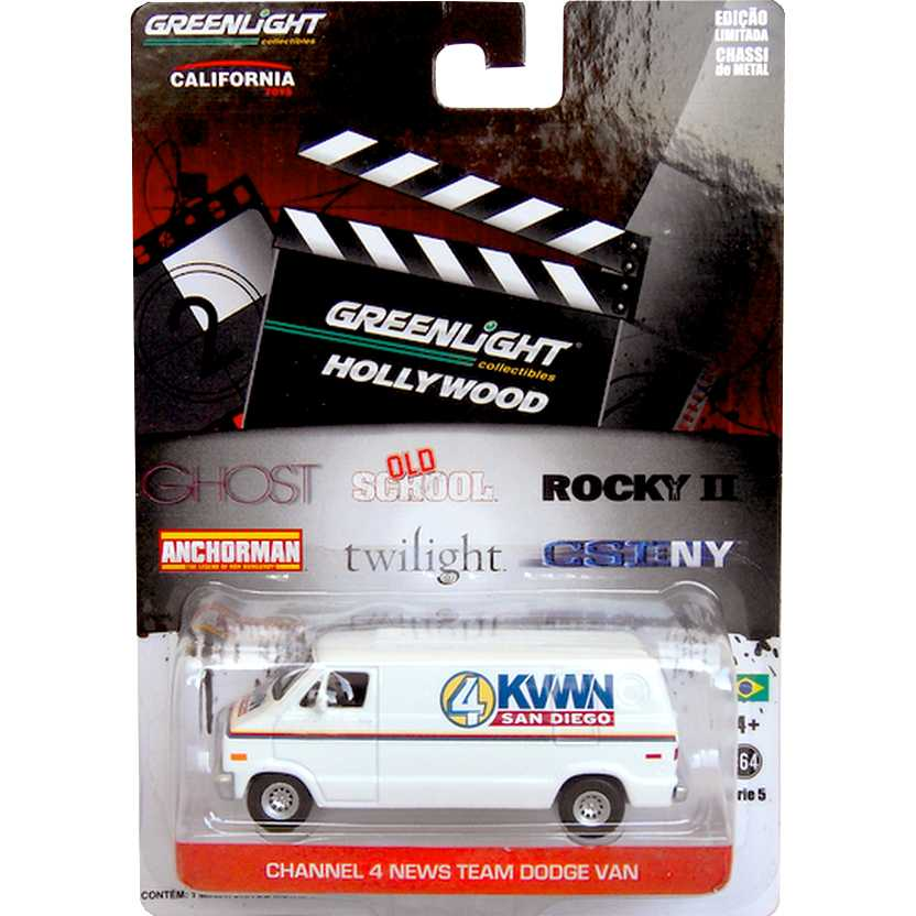 Greenlight Hollywood Collectibles - Anchorman - Ch. 4 San Diego Dodge Van R5 44650-X