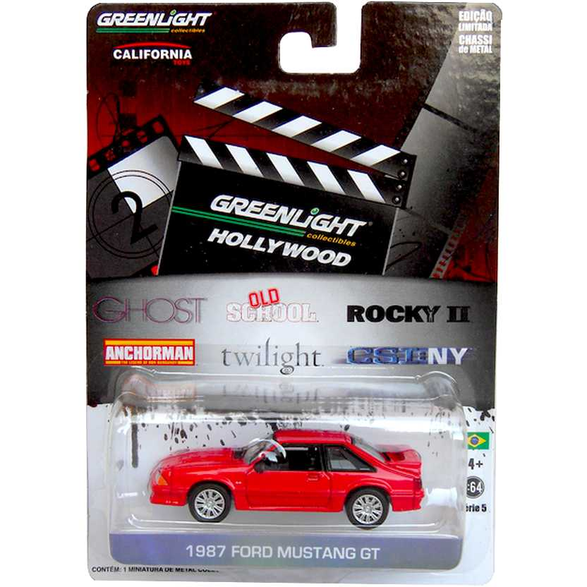 Greenlight Hollywood Collectibles - Ghost - 1987 Ford Mustang R5 44650-X escala 1/64