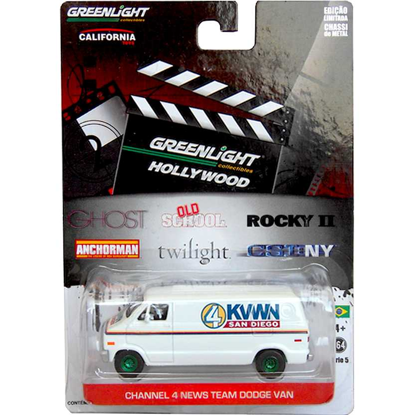 Greenlight Hollywood Green Machine - Anchorman - Ch. 4 San Diego Dodge Van R5 44650-X