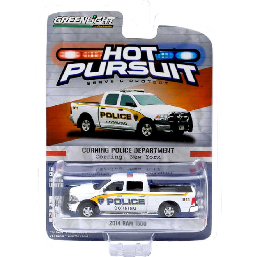 Greenlight Hot Pursuit Series 16 2014 Dodge Ram 1500 Corning New York Police escala 1/64