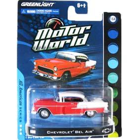 Greenlight Miniaturas 1/64 1955 Chevrolet Bel Air Motor World R4 96040
