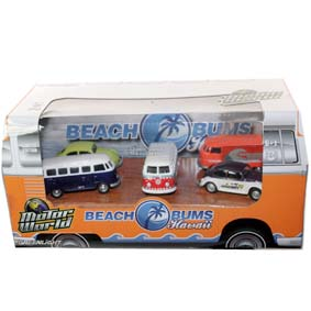 Greenlight Motor World Dioramas Beach Bums Series 1 (Volkswagen Kombi e Fusca) R1 58003