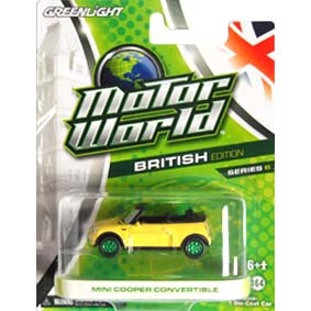 Greenlight Motor World Green Machine série 6 :: Mini Cooper Conv. R6 96060 1/64