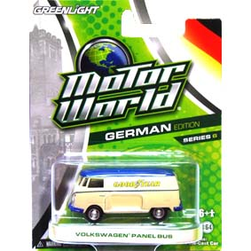 Greenlight Motor World série 6 VW Kombi Volkswagen Panel Bus Goodyear R6 96060