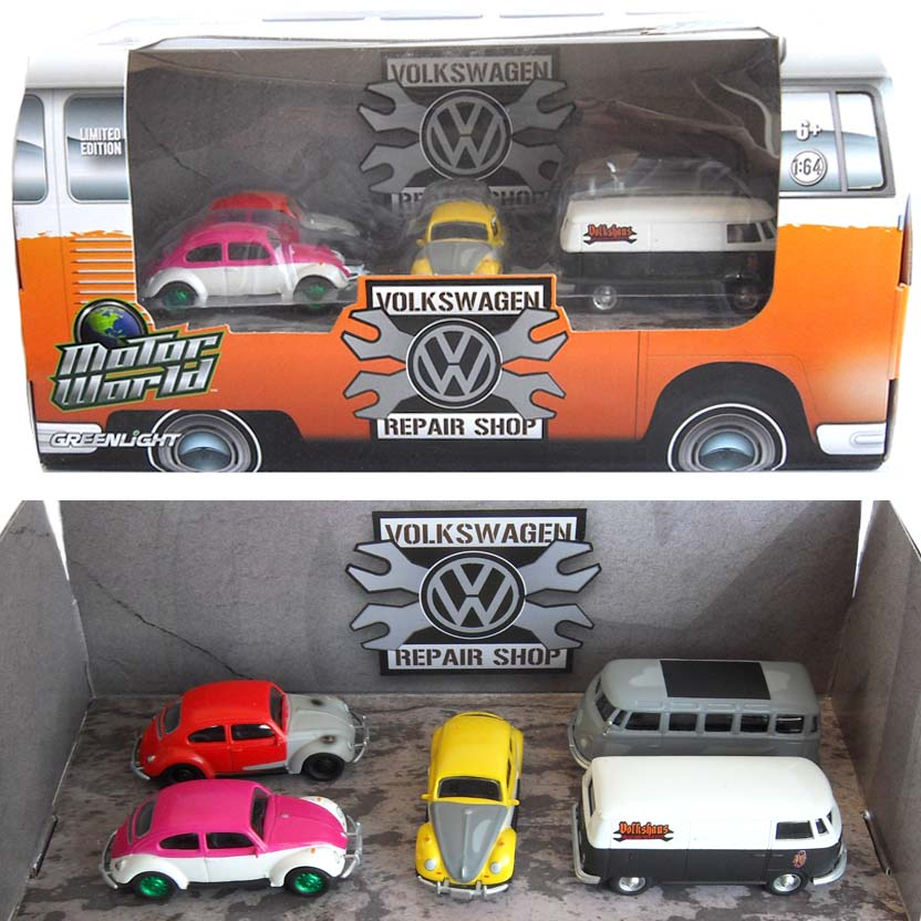 Greenlight Motor World Volkswagen Repair Shop ( Fusca Green Machine ) 58007