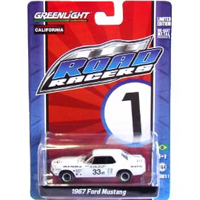 Greenlight Road Racers series 1 Ford Mustang (1967) 27600 miniatura escala 1/64