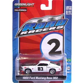 Greenlight Road Racers series 2 Ford Mustang Boss 302 (1969) 27680 escala 1/64