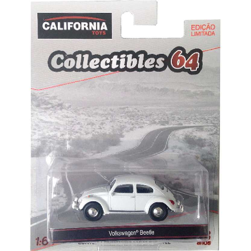 Greenlight VW Fusca Branco Volkswagen Beetle escala 1/64