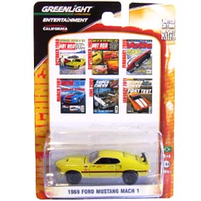 Greenlight Zine Machines series 2 Ford Mustang Mach 1 (1969) 21740 escala 1/64