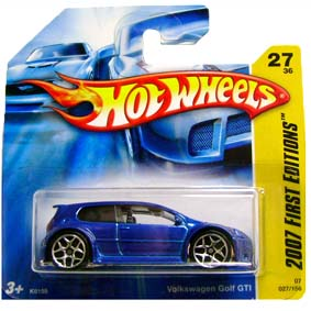 Guia 2007 Hot Wheels Volkswagen Golf GTI azul K6159 series 27/36 027/156