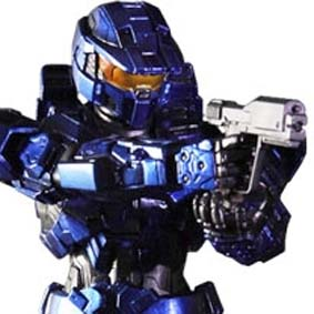 Halo Combat Evolved Blue Mark V Play Arts Kai Square Enix Action Figures