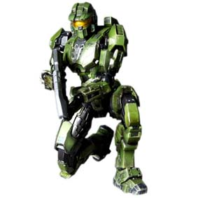 Halo Combat Evolved Master Chief Play Arts Kai Action Figure (10th Anniversary)