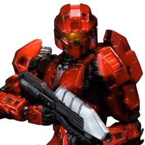 Halo : Combat Evolved Red Mark V Play Arts Kai Square Enix Action Figures