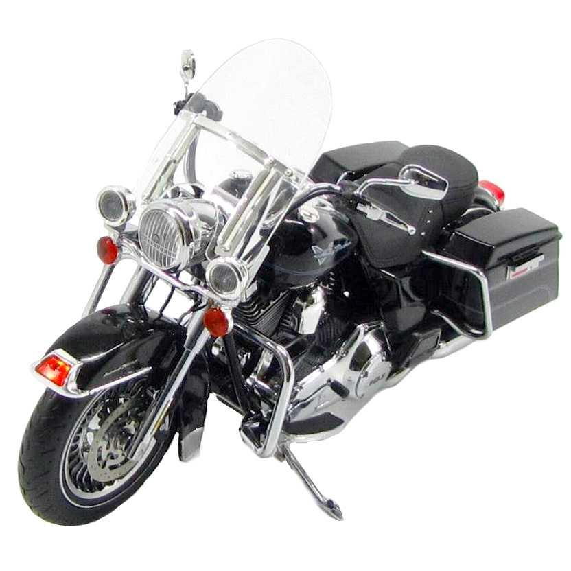 Harley Davidson FLHRC Road King (2012) preto marca Highway 61 escala 1/12