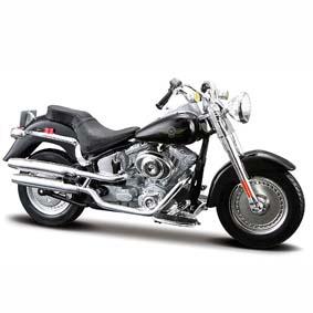 Harley Davidson Maisto FLSTFI Fat Boys S-29 (2004) similar do Exterminador do Futuro 2