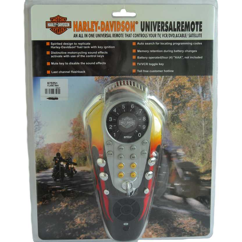 Harley-Davidson Universal Remote Control  (TV, VCR, DVD and Cable/Satellite)