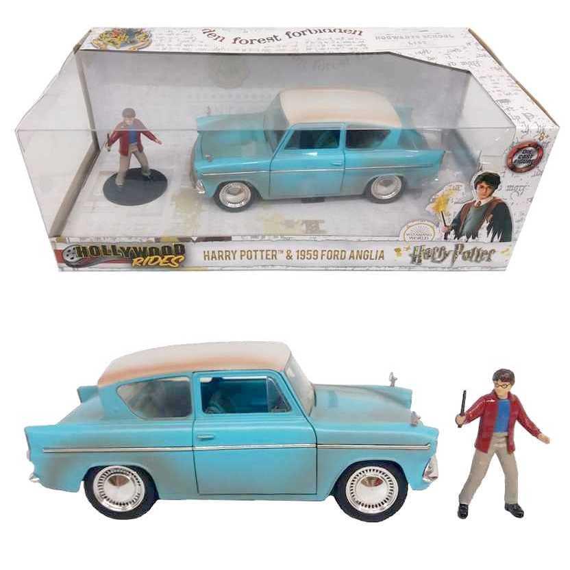 Harry Potter e Ford Anglia (1959) Hollywood Rides Jada Toys escala 1/24