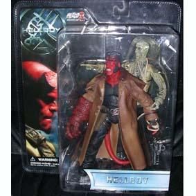 Hellboy com esqueleto