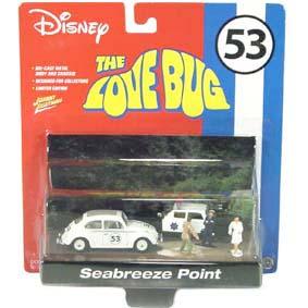 Herbie 53 Se Meu Fusca Falasse (The Love Bug) Diorama com 2 carros e 3 personagens