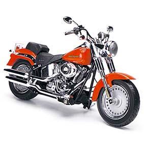 Highway 61 Harley-Davidson / Miniatura Harley Davidson Fat Boy FLSTF (2012) 1/12