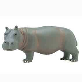 Hipopótamo adulto  pintado a mão