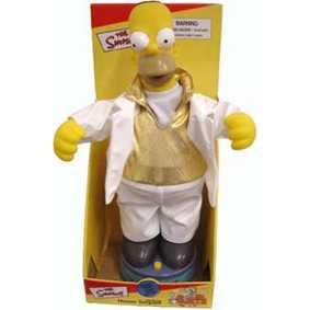 Homer que canta e dança a música Shake your Booty