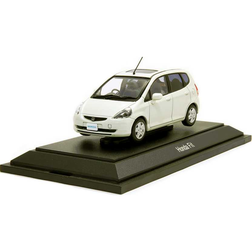 Honda Fit cor branco pérola com caixa de acrílico marca Ebbro escala 1/43